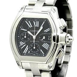 ロードスター カルティエ Cartier ロードスター クロノ W62020X6 メンズ腕時計 ブラックローマン 自動巻 保証書
