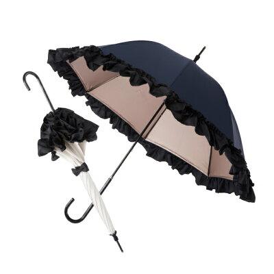 白川みきのおリボンUVカット涼感日傘 晴雨兼用 -15℃ 紫外線カット99% UVカット ミキフィーユ mikifille 白川みき日傘 白川みき傘 おリボンUVカット日傘 白川みきのおリボンUVカットフリル日傘