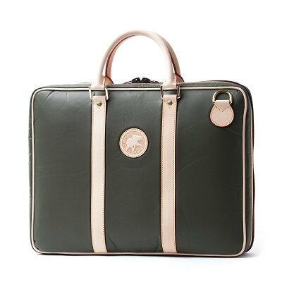 c9e0323aa727 ハンティングワールド HUNTING WORLD ブリーフケース グリーン メンズ ビジネス バッグ 鞄 弁護士 銀行 出張 4823 10a