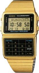 データバンク カシオ スポーツウォッチ メンズ デジタル 腕時計 データバンク ゴールド 金 (DBC-611G-1JF海外版) デュアルタイム ストップウォッチ アラーム カレンダー LED ライト付き ランニングウォッチ CASIO 海外限定 マラソン ランニング 時計 メタル ステンレスバンド