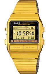 データバンク カシオ スポーツウォッチ メンズ デジタル 腕時計 データバンク ゴールド 金 (DB-380G-1) テレメモ機能 ストップウォッチ カウントダウンタイマー LED ライト付き ランニングウォッチ CASIO 海外限定 DATABANK マラソン ランニング 時計 アウトドアウォッチ