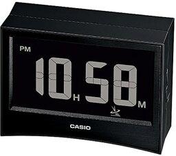 目覚し時計 カシオ 電波時計 置時計 コンパクト デジタル 目覚まし時計 おしゃれな ブラック 黒 (CL15JU14) 見やすい 大型液晶 スヌーズ アラーム タイマー 日付 曜日 カレンダー 温度 湿度計 LED ライト付き 小型 トラベルクロック CASIO 電波 旅行用 目覚まし時計