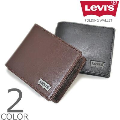 【全2色】 Levi's リーバイス ウォレット 二つ折り 財布 メンズ レディース 男女兼用