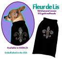 セーター・ニット ★Pet Flys/ペットフライ★Fleur de Lis Sweater犬用ラインストーンリリーセーター