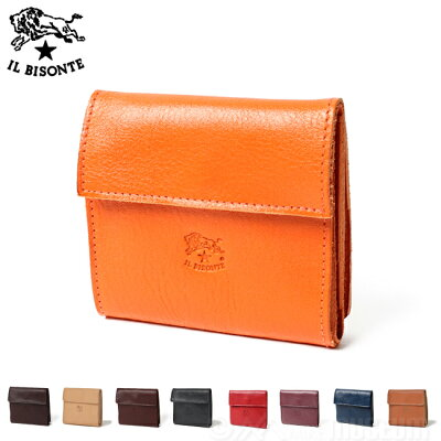 123308d3c2f0 イルビゾンテ IL BISONTE コンパクト二つ折り財布 ウォレット COWHIDE メンズ&レディース Made In ITALY C0455 2  ...