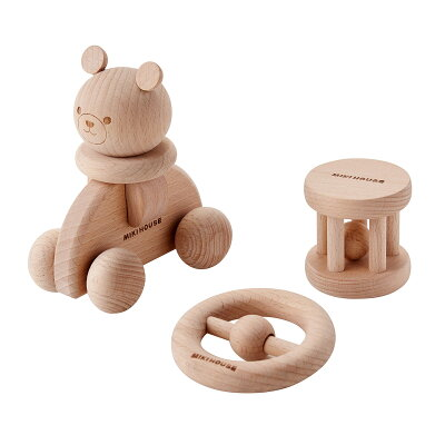 ミキハウス mikihouse ウッドトイセット【箱入】 ベビー用品 ベビー 赤ちゃん 木製 おもちゃ ギフト お祝い プレゼント