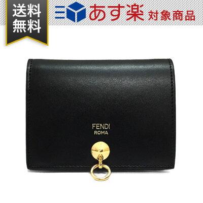 フェンディ 財布 レディース FENDI 8M0387 SME F0KUR 二つ折り財布 ブラック 黒