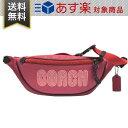 ショルダーバッグ コーチ バッグ ウエストバッグ COACH 69525 GMOQZ ベルトバッグ 40 ウィズ コーチ プリント 斜め掛け レザー ショルダーバッグ ピンク