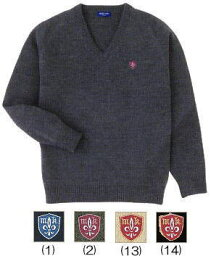 ミッシェルクラン MICHEL KLEIN ミッシェルクランスコレールVネックセーター(スクールセーター)ウール混