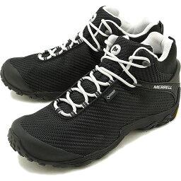 メレル 【即納】メレル MERRELL メンズ カメレオン7 ストーム ミッド ゴアテックス M CHAMELEON7 STORM MID GORE-TEX 完全防水 アウトドア トレッキングシューズ 靴 BLACK/BLACK [38559 FW18]