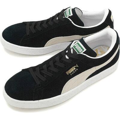 【即納】PUMA プーマ スニーカー 靴 メンズ レディース SUEDE CLASSIC+ スウェード クラシック プラス BLCK/WHITE [352634-03]【br】