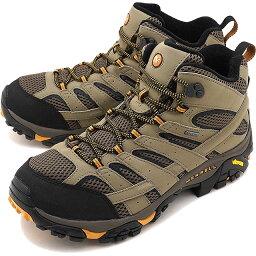 メレル 【即納】MERRELL メレル メンズ スニーカー 靴 MEN MOAB2 MID GORE-TEX WIDE WIDTH モアブ2 ミッド ゴアテックス ワイドワイズ WALNUT [06057W SS18]