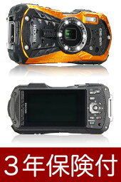 Optio [3年保険付] PENTAX/RICOH WG-50 防水防塵耐衝撃デジカメ オレンジ [02P05Nov16]