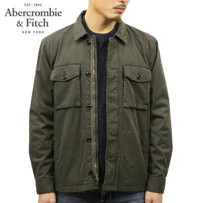 アバクロ Abercrombie&Fitch 正規品 メンズ シャツジャケット GARMENT DYE ZIP-UP SHIRT JACKET 132-328-1195-332