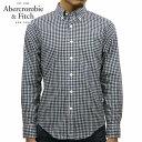 アバクロ シャツ メンズ 正規品 Abercrombie&Fitch 長袖シャツ ボタンダウンシャツ POPLIN SHIRT