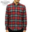 アバクロ シャツ メンズ 正規品 Abercrombie&Fitch 長袖シャツ ボタンダウンシャツ フランネルシャツ FLANNEL SHIRT 125-168-2991-508