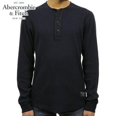 アバクロ Abercrombie&Fitch 正規品 メンズ ワッフル地 ヘンリーネック長袖Tシャツ ロンT WAFFLE TEE 124-230-0576-200