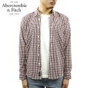 アバクロ シャツ メンズ 正規品 Abercrombie&Fitch 長袖シャツ ボタンダウンシャツ GINGHAM POPLIN SHIRT 125-125-1106-528