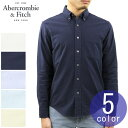 アバクロ シャツ メンズ 正規品 Abercrombie&Fitch 長袖シャツ オックスフォードシャツ ボタンダウンシャツ OXFORD SHIRT