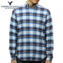 アメリカンイーグル シャツ メンズ 正規品 AMERICAN EAGLE 長袖シャツ ボタンダウンシャツ AEO CLASSIC PLAID OXFORD SHIRT 0153-9882-400