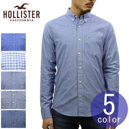 ホリスター 木製ハンガー ギフトセット ホリスター HOLLISTER 正規品 メンズ 長袖 ボタンダウン ポプリンシャツ Stretch Poplin Shirt Epic Flex