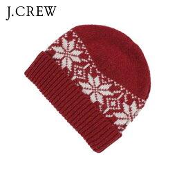 ジェイクルー 【販売期間 4/18 10:00〜4/21 09:59】 ジェイクルー J.CREW 正規品 ニットキャップ 帽子 レッド D35S45