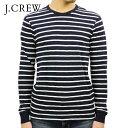 ジェイクルー ジェイクルー Tシャツ ロンT メンズ 正規品 J.CREW ボーダー 長袖Tシャツ LONG-SLEEVE DECK-STRIPED TEXTURED COTTON T-SHIRT C7931 VINTAGE NAVY WHITE