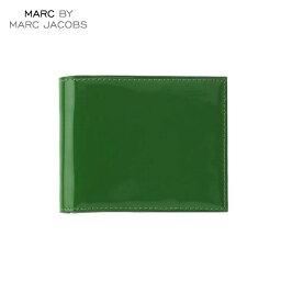 マークジェイコブス 二つ折り財布(メンズ) マークジェイコブス MARCJACOBS 正規品 財布 Patent Pending Billfold GREEN
