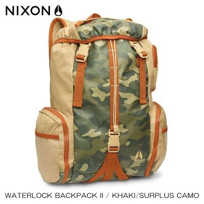 35%OFFセール 【販売期間 1/23 16:00〜1/28 09:59】 ニクソン NIXON 正規販売店 バッグ Waterlock Backpack II KHAKI NC19521714-00 D25S35