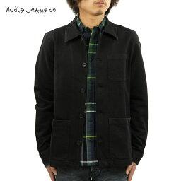 ヌーディージーンズ ヌーディージーンズ ジャケット メンズ 正規販売店 Nudie Jeans アウター カバーオール BARNEY WORKER JACKET BLACK B01 160676
