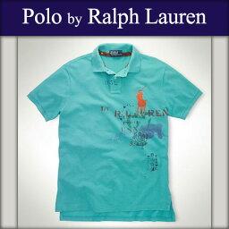 ラルフローレン 【ポイント10倍 02/17 10:00〜02/20 09:59まで】 ポロ ラルフローレン POLO RALPH LAUREN 正規品 メンズ ポロシャツ Custom-Fit Mountain Big Pony ターコイズ