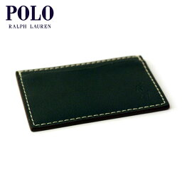 ラルフローレン 【販売期間 10/18 10:00〜10/26 9:59】 ポロ ラルフローレン POLO RALPH LAUREN 正規品 カードケース LEATHER FINNEGAN-SLIM CARD CASE GREEN D15S25