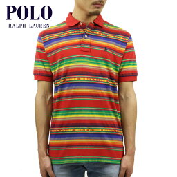 ラルフローレン ポロ ラルフローレン POLO RALPH LAUREN 正規品 メンズ ポロシャツ Classic Serape-Striped Polo RED