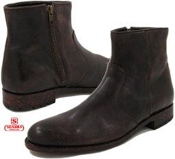 センドラ SENDRA/センドラ MODELO:10599 サイドジップ ブーツ DEEP SIENA WAX MARRON