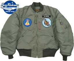 "ユニフ BUZZ RICKSON'S/バズリクソンズ Jacket,Flying,Intermediate Type MA-1 ""LION UNIFORM INC.""22nd TAC. FTR. SQ. PATCH22nd TFSパッチ付き、ライオンユニフォーム・MA-1ファースト/ Lot;BR14433"