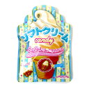 あめ・キャンディ ソフトクリームキャンデー 70g×6袋 扇雀飴 飴の形がソフトクリーム バニラ味