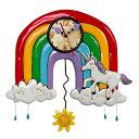 振り子時計 虹 ユニコーン アレン デザイン 振り子時計 Allen Designs Rainbows & Unicorns Clock 掛け時計 P1806 ミシェルアレン ミシェル・アレン アレン・デザイン ALLEN DESIGNS 時計 送料無料 【並行輸入品】