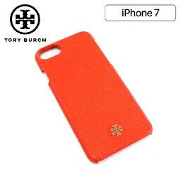 トリーバーチ スマホケース トリーバーチ スマホケース レディース TORY BURCH Smartphone case iPhone7 オレンジ 47410 818 【送料無料♪】