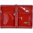 トートバッグ [イタリア バッグ]BECATO 2WAYエナメルレザークラッチバッグ 赤 [インポート バッグ]【送料無料】【あす楽対応】10P07Jan17【コンビニ受取対応商品】