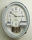 振り子時計 セイコー アミューズ 電波掛け時計 メロディー付振り子時計 白 AM258W 【あす楽対応】【動画あり】