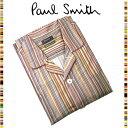ポールスミス ルームウェア メンズ ポールスミス Paul Smith☆ファッション ナイトウェア パジャマ 夜 寝間着 おしゃれ マルチストライプ カラールームウェア 読書 メンズ ブラウン ウェア ブランド クリスマス ハロウィン バレンタイン