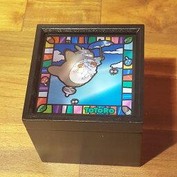 スタジオジブリ オルゴール 【スタジオジブリ作品】ステンドグラス風BOXオルゴールとなりのトトロ