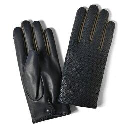 グローブス 手袋(メンズ) グローブス GLOVES 手袋 イントレッチオ カラー切替 ネイビー×グレー【本革 グローブ メンズ】