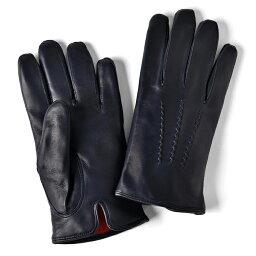グローブス 手袋(メンズ) グローブス GLOVES 手袋 レザー ネイビー【本革 グローブ メンズ】