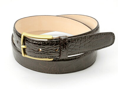 サドラーズ Saddler's リアルクロコダイルベルト 【3.0cm幅】 ダークブラウン【メンズ ベルト ビジネス イタリア】サドラーズ