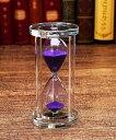 砂時計 砂時計 15分計 クリスタル風 (パープル)