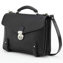 ショルダーバッグ LuggageAOKI 青木鞄 GAZA ガザ DINALY BUSINESS II 2way ブリーフケース ショルダーバッグ 日本製 本革 ブラック 4873-10