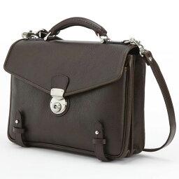 ショルダーバッグ LuggageAOKI 青木鞄 GAZA ガザ DINALY BUSINESS II 2way ブリーフケース ショルダーバッグ 日本製 本革 チョコ 4873-56