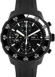 IWC アクアタイマー 腕時計(メンズ) IWC IW376705 アクアタイマー クロノグラフエディション ガラパゴスアイランド SS 黒文字盤 自動巻 ラバー