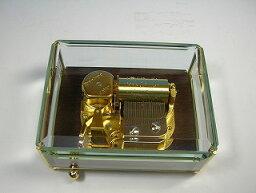 woodny オルゴール 30弁ガラスボックスオルゴール  シンフォニア (ウッドニー製:日本)OEO-35G[送料無料]